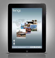 Akbank Axess Wings iPad Travel App. on the Behance Network picture on VisualizeUs