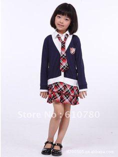 kids clothes school uniform japanese style Skirts(China (Mainland))