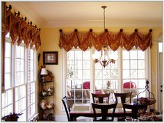 ivory silk box pleated balloon valance with deep poufs #valances