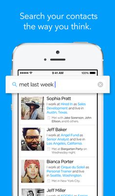 Humin, An App That Allows Users to Sort Contacts by Relationship Rather Than Alphabetically