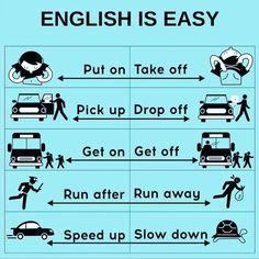 Some phrasal verbs English Sentences, English Vocabulary Words, Learn English Words, English Phrases, English Idioms, Teaching English Grammar, English Writing Skills, English Language Learning, German Language