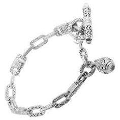 Judith Ripka Estate PN Diamond Gold Toggle Bracelet