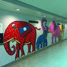 Группа слонов из Лаоса прибыла на метро поселиться в зоопарке Киото #метро #Киото #слон #Лаос #слоны #вметро #Япония