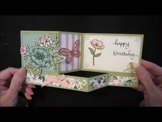 Inking It Up With Cathy: Stand Up Fold Card Using Birthday Blooms; Endless…