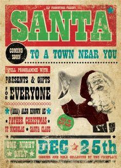 Vintage Christmas Poster online bestellen   Posterlounge