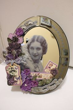 Denise Hahn altered mirror with Graphic 45, Petaloo and Craft Attitude