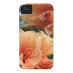 Orange Hawaiian Hibiscus Flowers Case-Mate iPhone 4 Cases