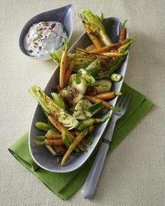 Das Rezept für Ofen-Gemüse mit Radieschen-Quark und weitere kostenlose Rezepte auf LECKER.de