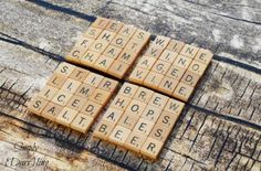 Reuse extra scrabble pieces to make these playful accessories. Get the tutorial at Simply Darrling.