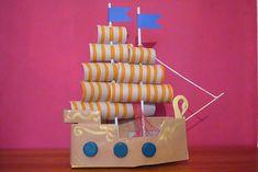 come costruire la nave dei pirati pirates of the carribean ship diy activity with children