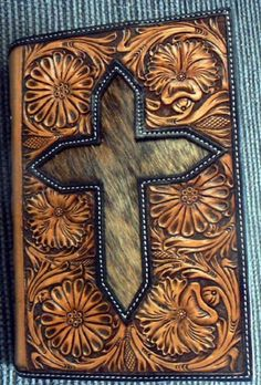 Custom leather hand tooled Bible Cover. I know many people that would love this.
