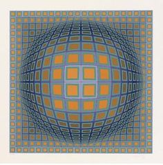 Vancouver - (Victor Vasarely) Plus Victor Vasarely, 3d Pattern, Kinetic Art, Z Arts, Types Of Art, Geometric Art, Optical Illusions, Textures Patterns, Les Oeuvres