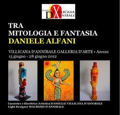 """www.VillicanaDAnnibale.com DANIELE ALFANIN """"TRA MITOLOGIA E FANTASIA"""" by DANIELLE VILLICANA D'ANNIBALE http://blur.by/1f68MV0 Daniele Alfani nasce a Loreto (An), dove i suoi genitori si sono trasferiti per motivi di lavoro da Arezzo, città nella quale ritorna all'età di tre anni e dove tuttora vive. Si è sempre dedicato con passione all'arte pittorica, sperimentando le varie tecniche..."""