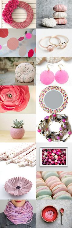 pink circles by QuietUnrestVintage on Etsy--Pinned with TreasuryPin.com