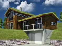 Nice and ecological Finnish wooden house