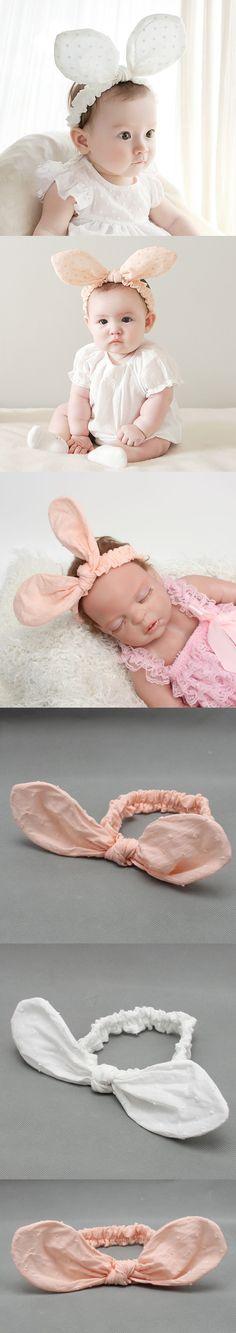 Cotton Baby Headband Cute Big Rabbit Ear Hair Accessories Infant Toddler Dot Hair Bows Hairband Elastic Baby Girl Headbands