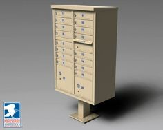 Auth-Florence 1570-16 Vital 16 Door CBU Mailboxes by Auth-Florence. $1075.78. Auth Florence 1570 CBU's are USPS approved for all centralized mail delivery in residential and industrial developments. These durable, secure, convenient and attractive freestanding mail-delivery units are constructed of non-rusting aluminum and stainless steel. As of Fall 2007 newly installed CBU's must be Sandstone or optional colors. Standard Features: Designed to meet or exceed newest USPS ...