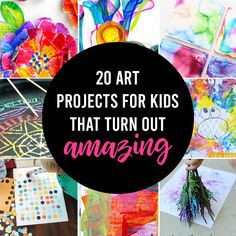 20 easy art projects for kids that turn out AMAZING! - It's Always Autumn Sewing Patterns Free, Free Sewing, Sewing Tutorials, Sewing Projects, Free Pattern, Easy Art Projects, Projects For Kids, Crafts For Kids, Modelista