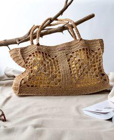 Crochet Beach Bags, Crochet Market Bag, Crochet Handbags, Crochet Purses, Handmade Handbags, Handmade Bags, Fashion Bags, Big Fashion, Mode Crochet
