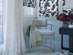 Love the print on these blinds - could just be rollers too.