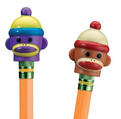 Sock Monkey Pencil Toppers| Patch Products
