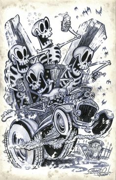 Kustom Cars Of The 50S | ... ILLUSTRATIONS | SOCAL KUSTOM KULTURE KARTOONS | The Selvedge Yard
