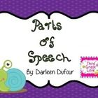 I created these colorful and exciting Parts of Speech Cards to help my students.  The cards can be used in a variety of ways to help your students ...