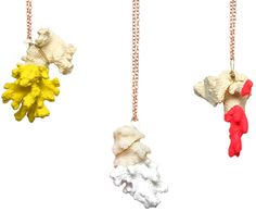 Paint-dipped coral necklaces