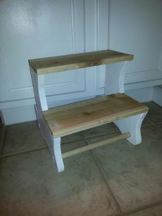 DIY kids step stool...slides under cabinet