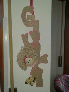 retroporta#door decoration#cucito creativo#creative sewing
