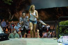 Sarah Dumont and Logan Miller in Scouts Guide to the Zombie Apocalypse