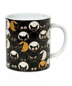 Love this Black Cat Eye Mug on #zulily! #zulilyfinds