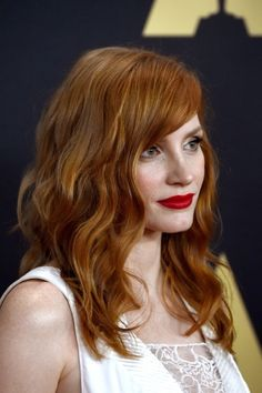 Jessica Chastain is a SIREN at AMPAS 2014 Governors Awards