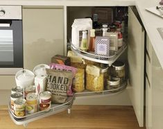 Full Extension Corner Storage Accessory - Howdens joinery supply kitchens to trade only