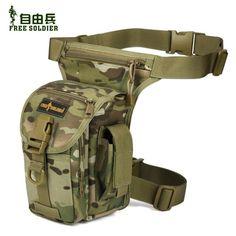 Outdoor Tactical Men's Waist Leg Bag Pack Travel Ride Sports