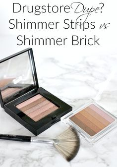 Drugstore Dupe? Physicians Formula Shimmer Strips vs Bobbi Brown Shimmer Brick…