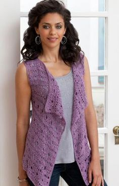 Drapey Crochet Vest Crochet.  Free pdf pattern.  Super easy to make.