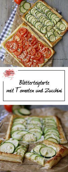 Blätterteigtarte mit Tomaten und Zucchini | Rezept | Essen