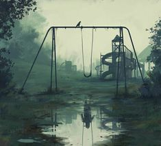 Stefan Koidl is an Austrian freelance illustrator, who produces eerie illustrations in Photoshop. His works feature various creepy motives, which range from urban legends to mythical creatures. Stefan said he's been drawing since he was a Dark Fantasy Art, Fantasy Kunst, Digital Art Fantasy, Fantasy Artwork, Creepy Paintings, Creepy Drawings, Art Drawings, Face Paintings, Art Sketches