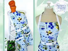Pockets, pockets, pockets. Natures Palette by Marjolein Bastin for FreeSpirit: Button Top Apron