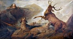 Stag at Bay by Richard Ansdell  Date painted: 1846 Oil on canvas, 213.5 x 367.3 cm Collection: National Museums Liverpool