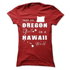 OREGON GIRL IN HAWAII - #tshirt refashion #sweater knitted. GET YOURS => https://www.sunfrog.com/States/OREGON-GIRL-IN-HAWAII-Red-Ladies.html?68278