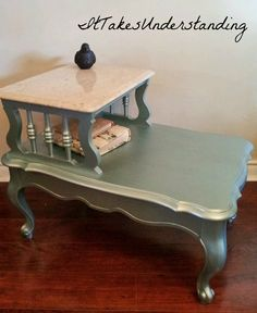 Shabby Chic End Tables - Set of 2 - Night Stands - French Provencal on Etsy, $240.00