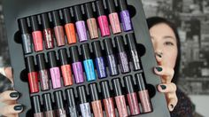 NYX Liquid Suede Cream Vault - 30 lipstick set unboxing & swatches