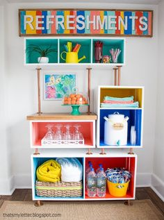diy family refreshments station