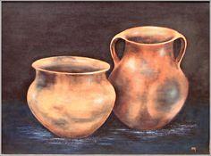 imagenes dibujo de tinajas - Buscar con Google Vases, Hyper Realistic Paintings, Old Pottery, Painting Still Life, Fruit Art, Pottery Painting, Ceramic Planters, Animal Paintings, Ceramic Art
