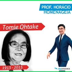 #ProfHoraciohomenageia Tomie Ohtake! ;-) :-D A artista plástica japonesa de alma brasileira nos deixou. :-(   Ohtake, faleceu ontem aos 101 anos de idade e de muito talento!!!  Obrigado, Tomie!