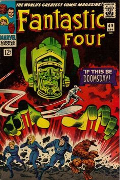 """""""Galactus"""" FANTASTIC FOUR #49 by Jack Kirby"""