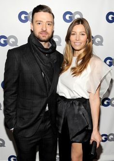 Justin & Jessica celebrate his GQ Man of the Year status