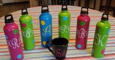 Imperfectly Beautiful: Monogrammed Teacher Gifts Use vinyl and the cricut Vinyl Monogram, Monogram Gifts, Personalized Gifts, Birthday Presents For Girls, Cricut Cuttlebug, Vinyl Gifts, Cricut Vinyl, Vinyl Art, Vinyl Decals
